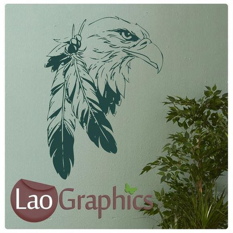 Indian Eagle Wall Sticker Home Decor Art Decals-LaoGraphics