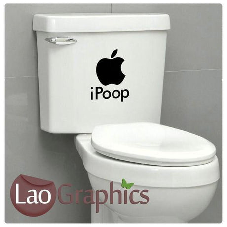 iPoop Funny Joke Bathroom Toilet Stickers Home Decor Art Decals-LaoGraphics