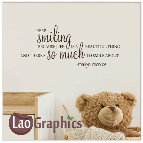 Keep smiling Home Decor Art Decals