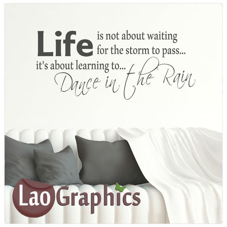 Dance in the rain Home Decor Art Decals