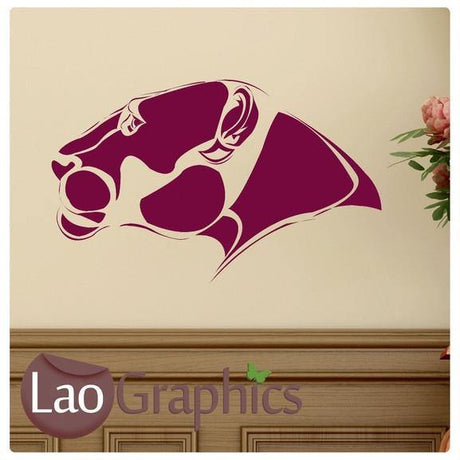 Jaguar Head Wild Animals Large Kitty Wall Stickers Home Decor Art Decals-LaoGraphics