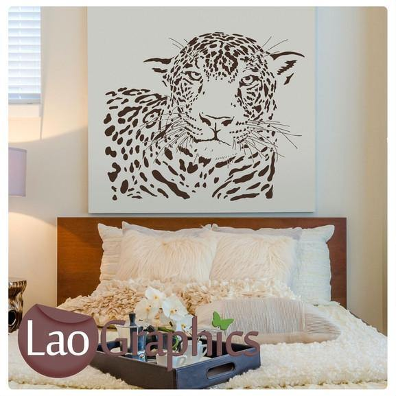Jaguar Wild Animals Large Kitty Wall Stickers Home Decor Art Decals-LaoGraphics