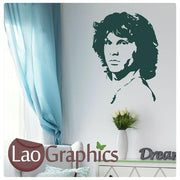 Jim Morrison Celebrity Legend Wall Stickers Home Decor Art Decals-LaoGraphics