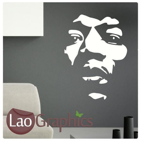Jimmy Hendrix Wall Sticker (negative) Home Decor Art Decals-LaoGraphics