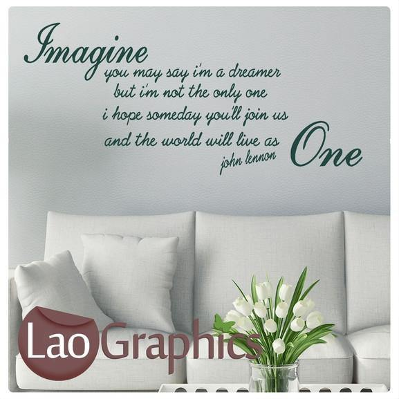 John Lennon - Imagine Quote Inspiring Quote Wall Stickers Home Decor ...