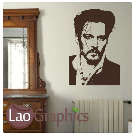 Johnny Depp Wall Stickers Home Decor Art Decals-LaoGraphics