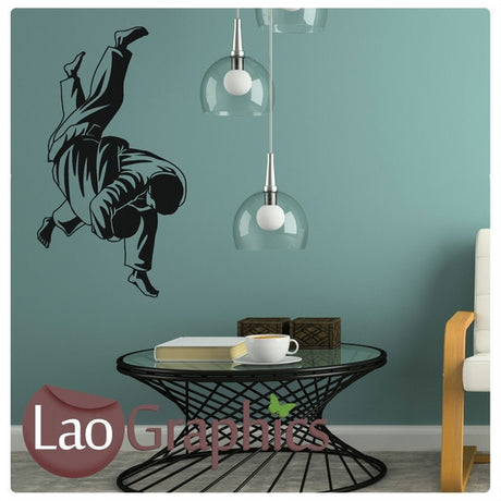Judo Boys Sports Wall Stickers Home Decor Art Decals-LaoGraphics