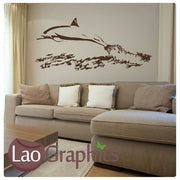 Jumping Dolphin Girls Room Aquatic Wall Stickers Home Decor Art Decals-LaoGraphics