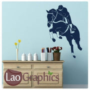 Jumping Horse Girls Room Wall Stickers Home Decor Animal Art Decals-LaoGraphics