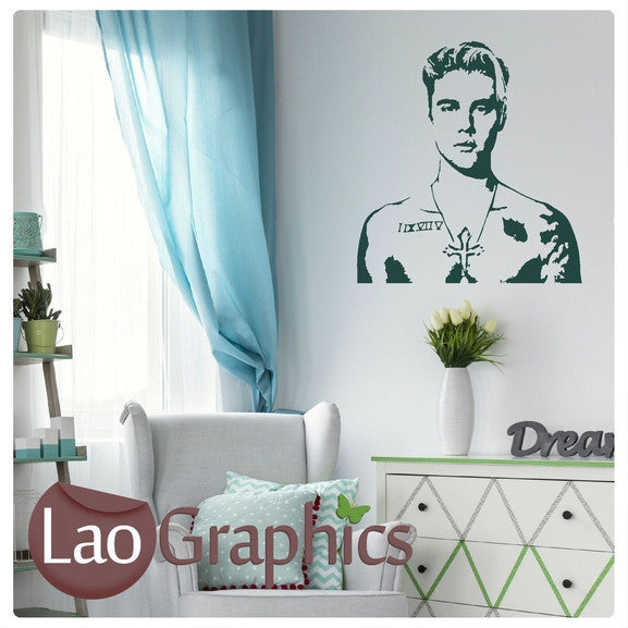 Justin Bieber Wall Stickers Home Decor Art Decals-LaoGraphics
