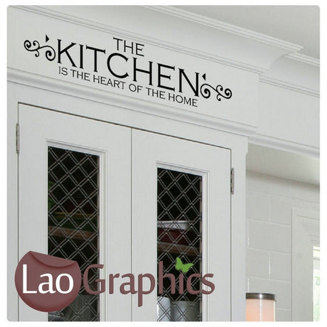 Kitchen Heart of The Home #2 Kitchen Quote Wall Stickers Home Decor Art Decals-LaoGraphics