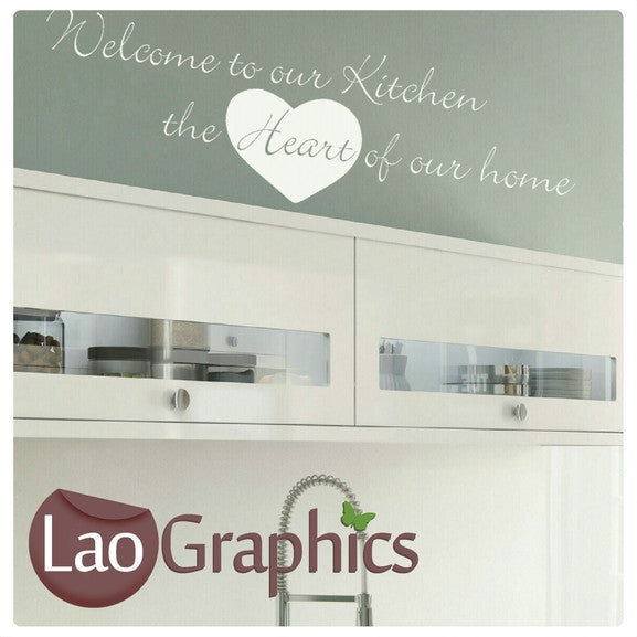 Kitchen Heart of The Home Kitchen Quote Wall Stickers Home Decor Art Decals