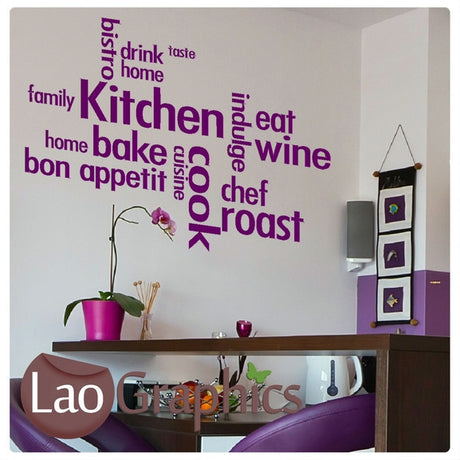 Kitchen Quote Kitchen Quote Wall Stickers Home Decor Art Decals-LaoGraphics
