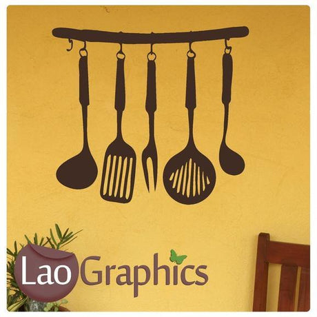 Kitchen Utensils Large Kitchen Wall Stickers Home Decor Art Decals-LaoGraphics