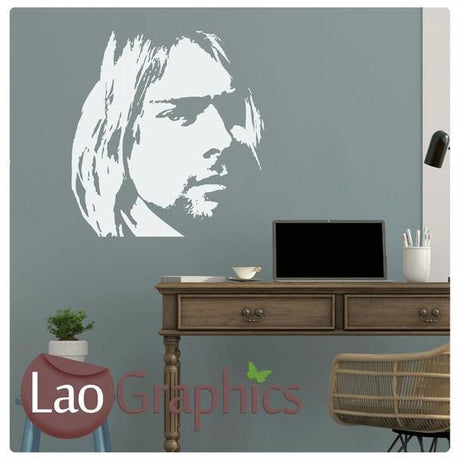 Kurt Cobain Celebrity Legend Wall Stickers Home Decor Art Decals-LaoGraphics