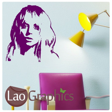 Lady Gaga Wall Stickers Home Decor Art Decals-LaoGraphics