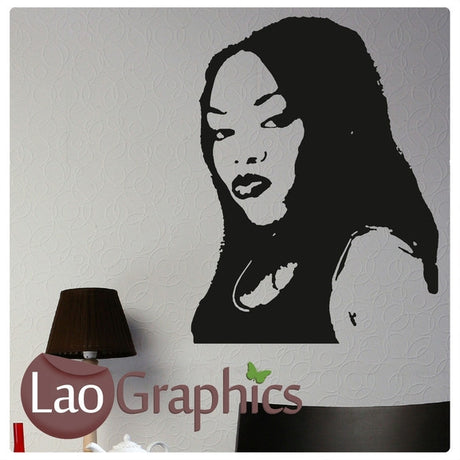 Lady Leshurr Wall Stickers Home Decor Art Decals-LaoGraphics