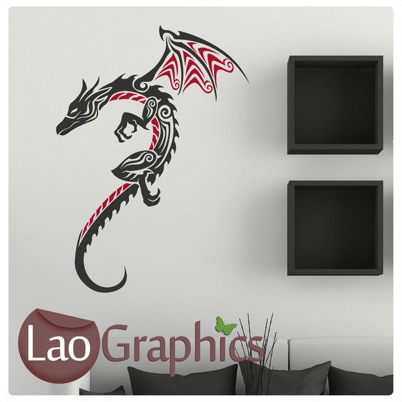 Large Dragon Oriental Wyvern Fantasy Wall Stickers Home Decor Art Decals-LaoGraphics
