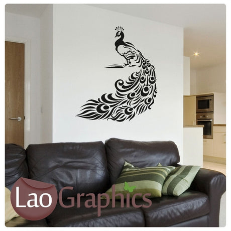 Large Peacock Wall Sticker Home Decor Art Decals-LaoGraphics