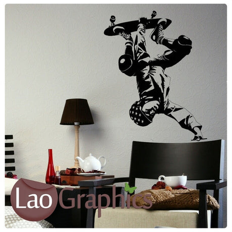 Large Skateboarder Boys Bedroom Wall Stickers Home Decor Boys Room Art Decals-LaoGraphics
