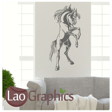 Large Standing Horse Girls Room Wall Stickers Home Decor Animal Art Decals-LaoGraphics