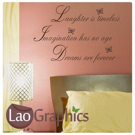Laughter Quote Quotes & Words Wall Stickers Vinyl Lettering Art Decals-LaoGraphics