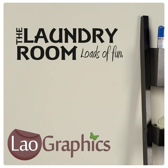 Laundry Room Quote Quotes & Words Wall Stickers Vinyl Lettering Art Decals-LaoGraphics