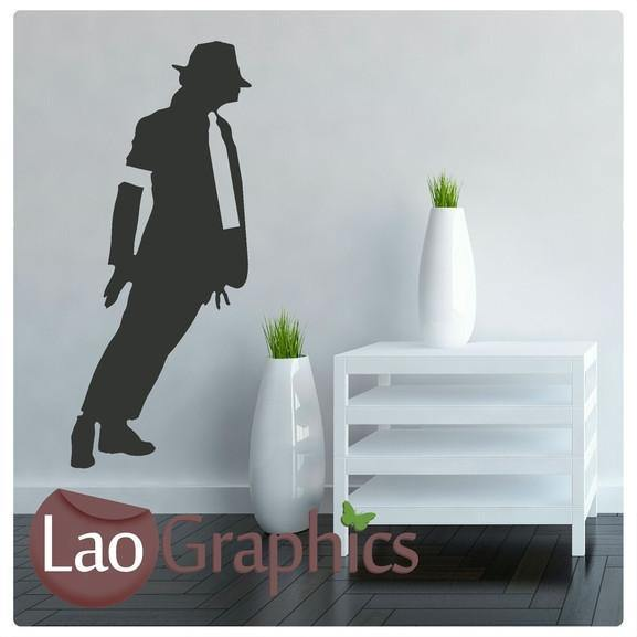 Leaning Jacko Micheal Jackson Celebrity Legend Wall Stickers Home Decor Art Decals-LaoGraphics