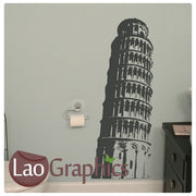Leaning Tower of Pisa World Landmark Wall Stickers Home Decor Art Decals-LaoGraphics