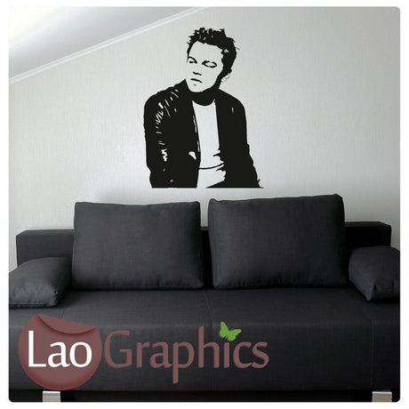 Leonardo Dicaprio Wall Stickers Home Decor Art Decals-LaoGraphics