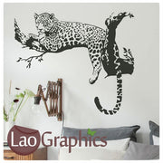 Leopard in a Tree Wild Animals Large Kitty Wall Stickers Home Decor Art Decals-LaoGraphics