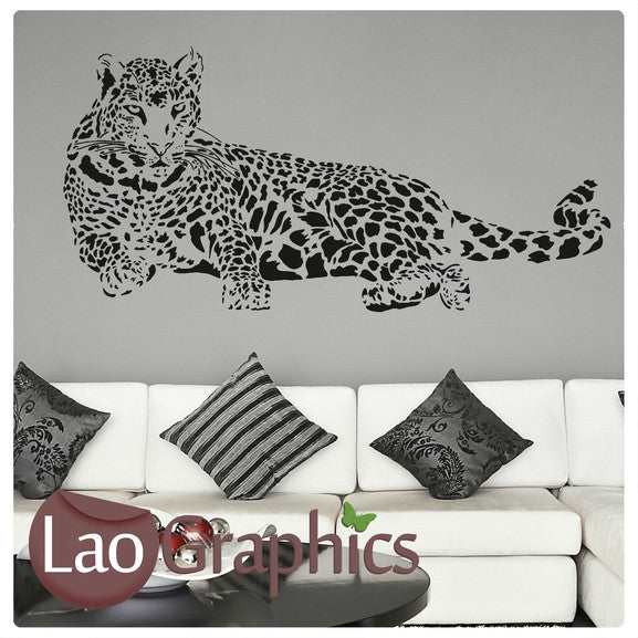 Leopard Wild Animals Large Kitty Wall Stickers Home Decor Art Decals-LaoGraphics