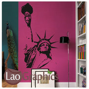 Liberty Statue World Landmark Wall Stickers Home Decor Art Decals-LaoGraphics