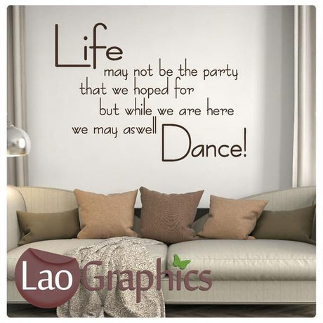 Life Quote Inspiring Quote Wall Stickers Home Decor Art Decals-LaoGraphics
