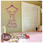Lifes too Short Quote Inspiring Quote Wall Stickers Home Decor Art Decals-LaoGraphics
