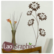 Lily Flower Modern Interior Wall Stickers Home Decor Art Decals-LaoGraphics