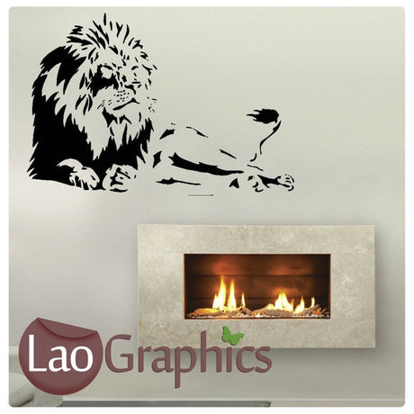Lion Wild Animals Large Kitty Wall Stickers Home Decor Art Decals-LaoGraphics