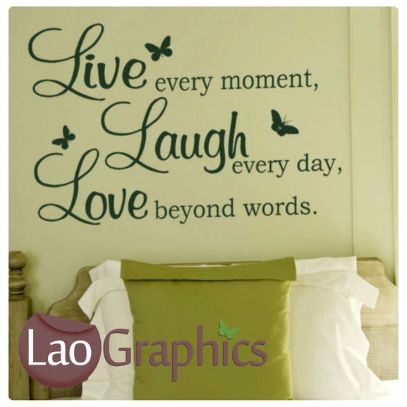 Live Love Laugh Quote Inspiring Quote Wall Stickers Home Decor Art Simple Live Love Laugh Quote
