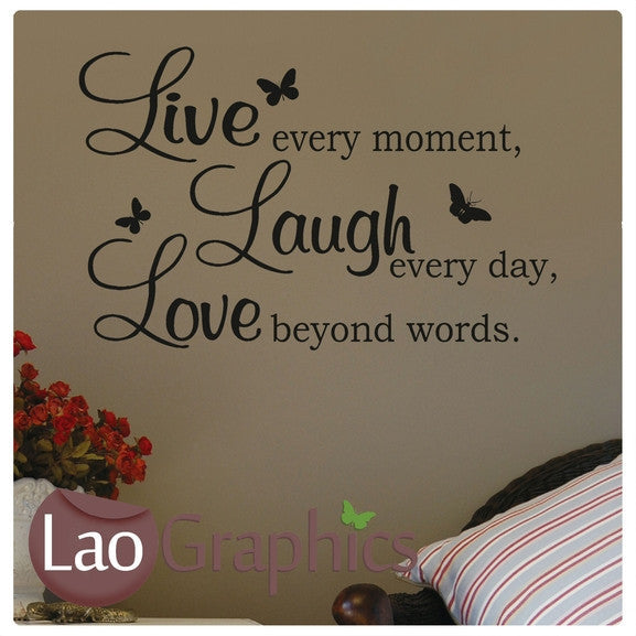 Live Love Laugh Quote Inspiring Quote Wall Stickers Home Decor Art