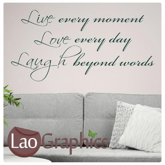 Live Love Laugh Quote Inspiring Quote Wall Stickers Home Decor Art Decals-LaoGraphics