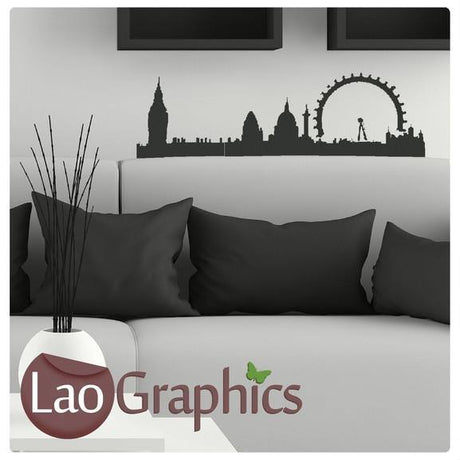 London Skyline City Scape Wall Stickers Home Decor Art Decals-LaoGraphics