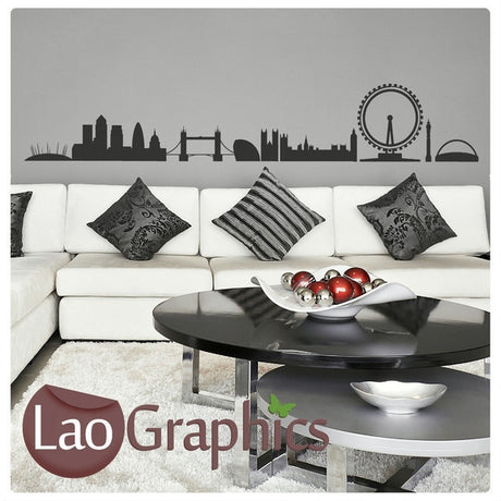 London Skyline (wide) City Scape Wall Stickers Home Decor Art Decals-LaoGraphics