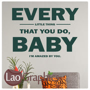Lonestar - Baby I'm Amazed By You Romantic Quote Wall Stickers Home Decor Love Art Decals-LaoGraphics