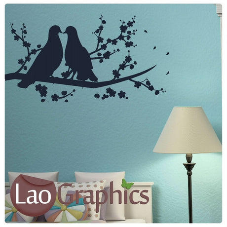 Love Birds Wall Sticker Home Decor Art Decals-LaoGraphics