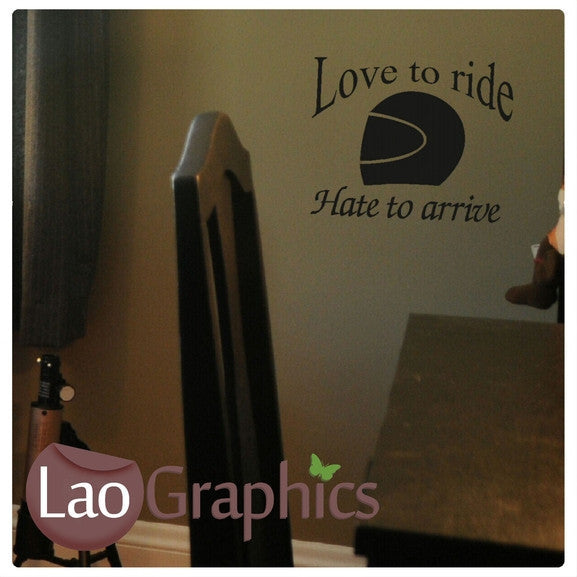 Love to Ride Bike Quote Discount & Cheap Wall Stickers Home Decor Art Decals-LaoGraphics