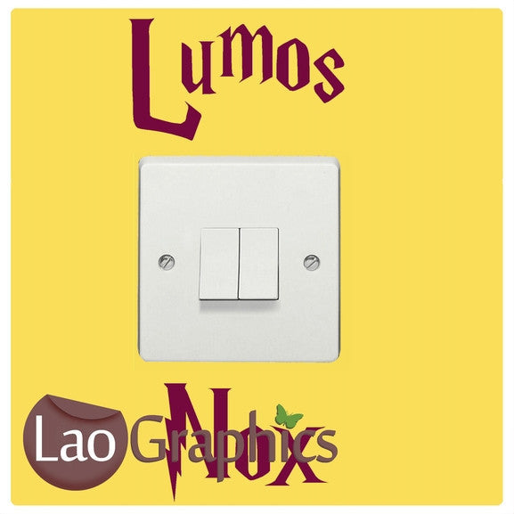 Lumos Nox Light Switch Light Switch Art Decals Home Decor Cute Wall Stickers-LaoGraphics