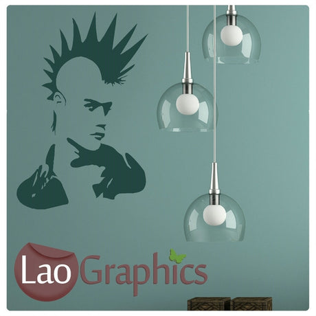 Man Punk Rocker Culture Wall Stickers Home Decor Art Decals-LaoGraphics