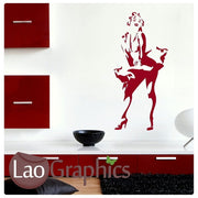 Marilyn Monroe Celebrity Legend Wall Stickers Home Decor Art Decals-LaoGraphics