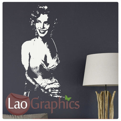 Marilyn Monroe Wall Stickers (negative) Home Decor Art Decals-LaoGraphics