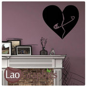 Mended Heart Girls Room Wall Stickers Home Decor Pretty Art Decals-LaoGraphics